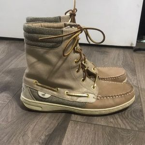 Sperry Tan Boots Size 8.5